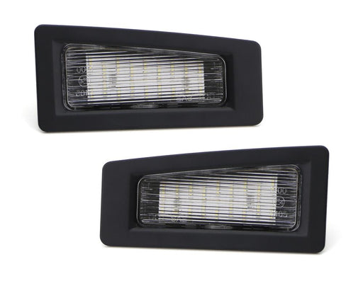 OEM-Fit 3W Full LED License Plate Light Kit For 2014-2018 Mazda3, 2016-up Mazda CX-3, Powered by 18-SMD Xenon White LED-iJDMTOY