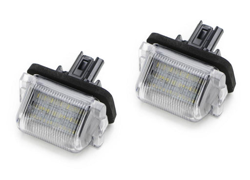 OEM-Fit 3W Full LED License Plate Light Kit For Mazda5 Mazda CX-9, Powered by 18-SMD Xenon White LED-iJDMTOY