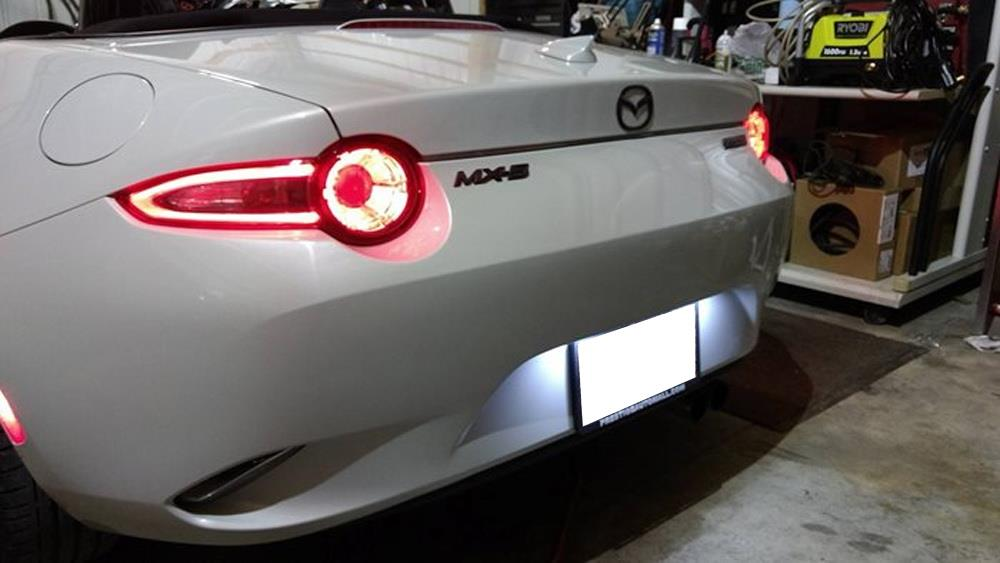 License Plate Scanner >> 2016-up Mazda MX-5 Miata 3W Full LED License Plate Light ...