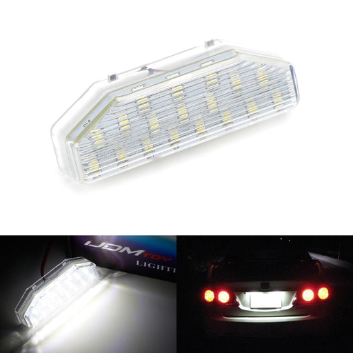 OEM-Fit 3W Full LED License Plate Light Kit For 2004-2014 Mazda RX-8 RX8, Powered by 18-SMD Xenon White LED-iJDMTOY