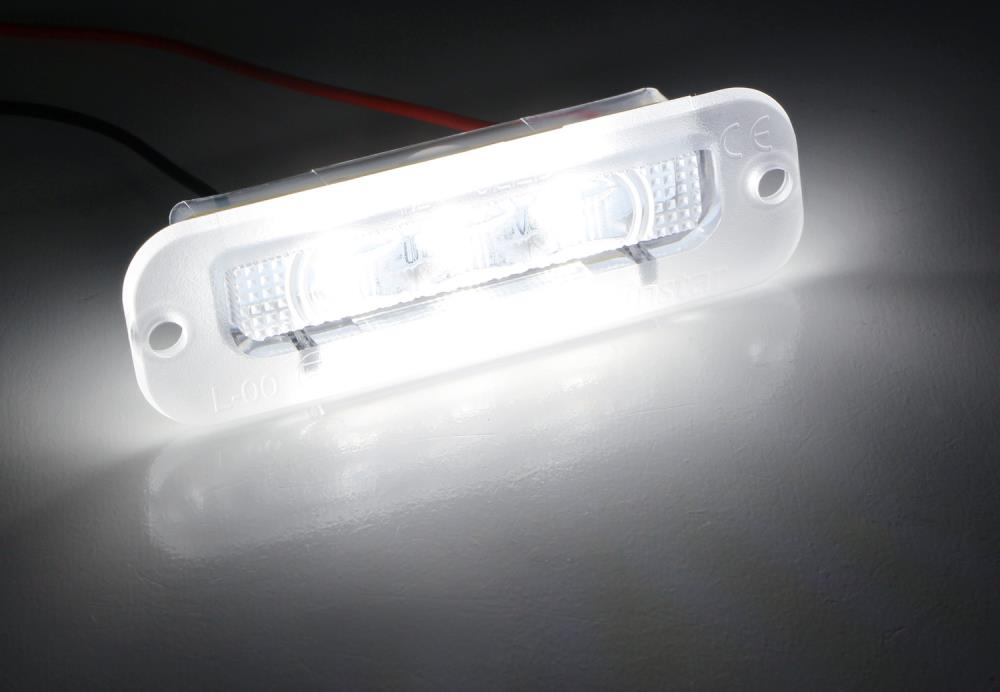 2 Pieces LED Number License Plate Light Lamp for Benz W463 G Class G500 G550