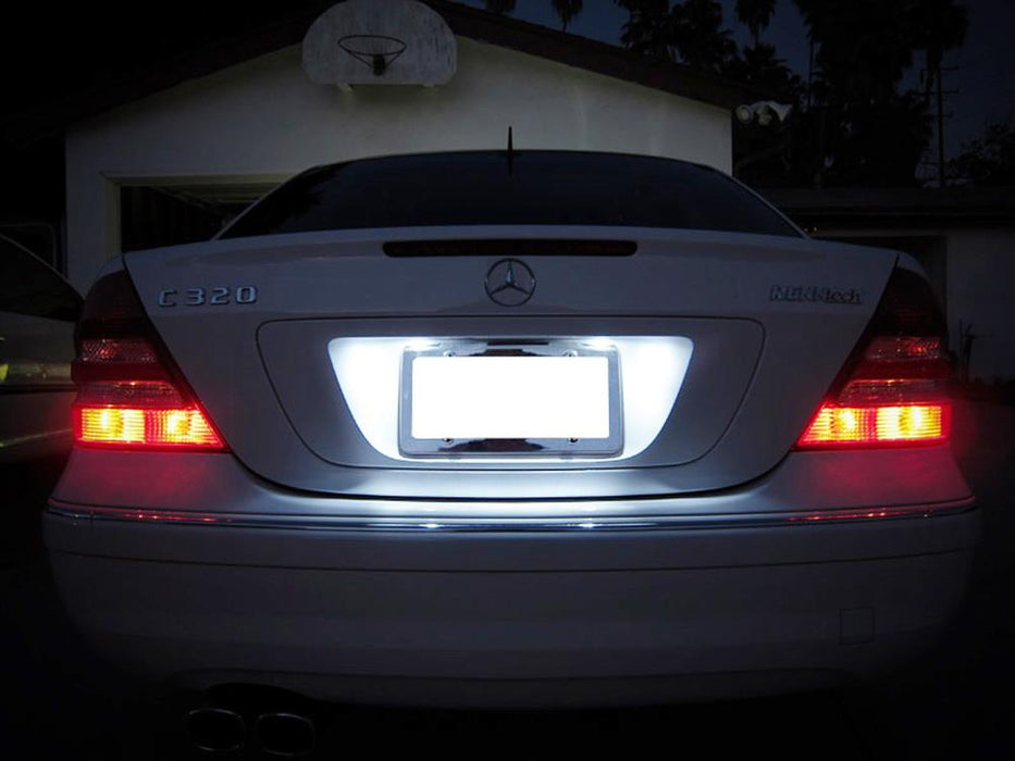 Mercedes Benz C E Cls Class White Led License Plate Lights