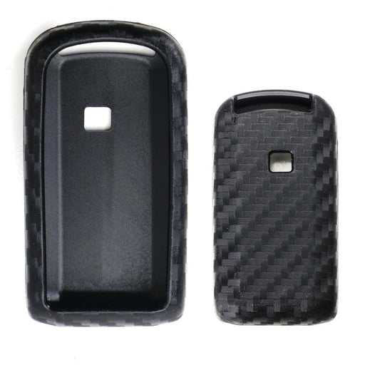 Carbon Fiber Pattern Soft Silicone Key Fob Cover Case For Mitsubishi Lancer Evolution or Outlander-iJDMTOY