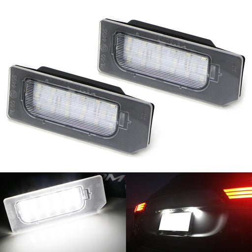 OEM-Fit 3W Full LED License Plate Light Kit For 2011-2017 Mitsubishi Outlander Sport ASX RVR, Powered by 18-SMD Xenon White LED Diodes-iJDMTOY