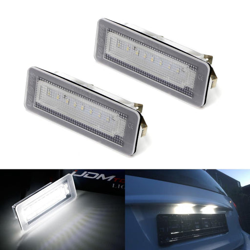 OEM-Fit 3W Full LED License Plate Light Kit For 2007-15 Smart W451 Fortwo, Powered by 18-SMD Xenon White LED & Can-bus Error Free-iJDMTOY