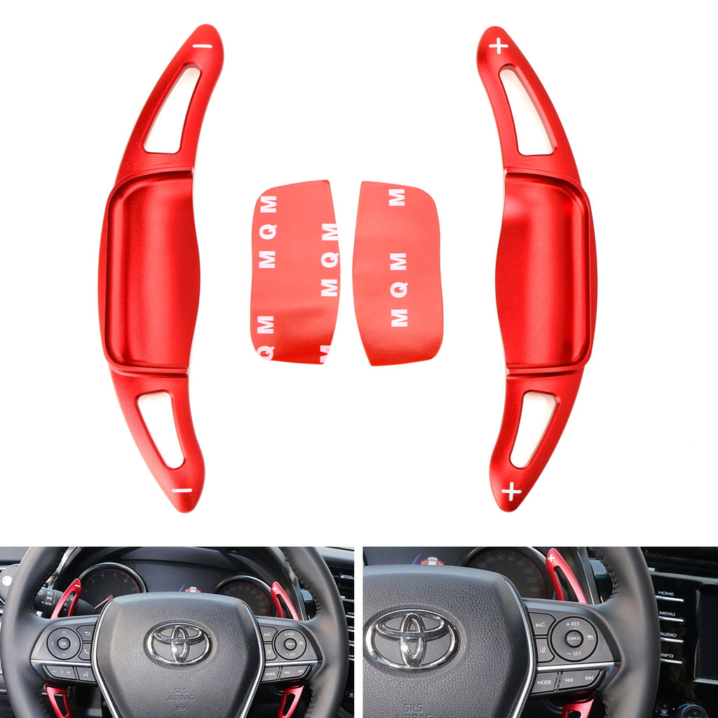 Metal Made DSG Paddle Shift Steering Wheel Extension for Camry Red