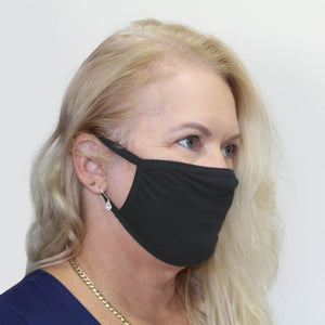 K-Lee Designs anti-bacterial and hypoallergenic Bamboo Face Mask in Charcoal made in Australia