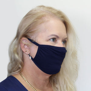 K-Lee Designs anti-bacterial and hypoallergenic Bamboo Face Mask in Navy made in Australia
