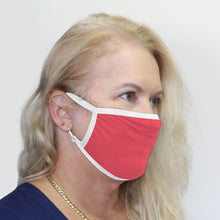 Load image into Gallery viewer, K-Lee Designs anti-bacterial and hypoallergenic Bamboo Face Mask in Dark Pink with White bind made in Australia