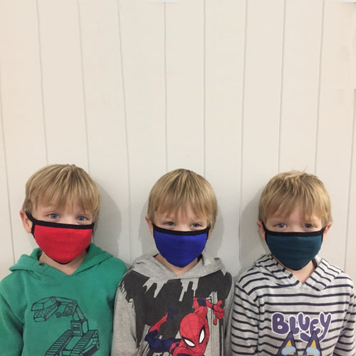 K-Lee Designs bamboo fabric face masks in junior size for kids