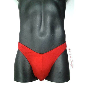 our classic cut bodybuilding trunks in red