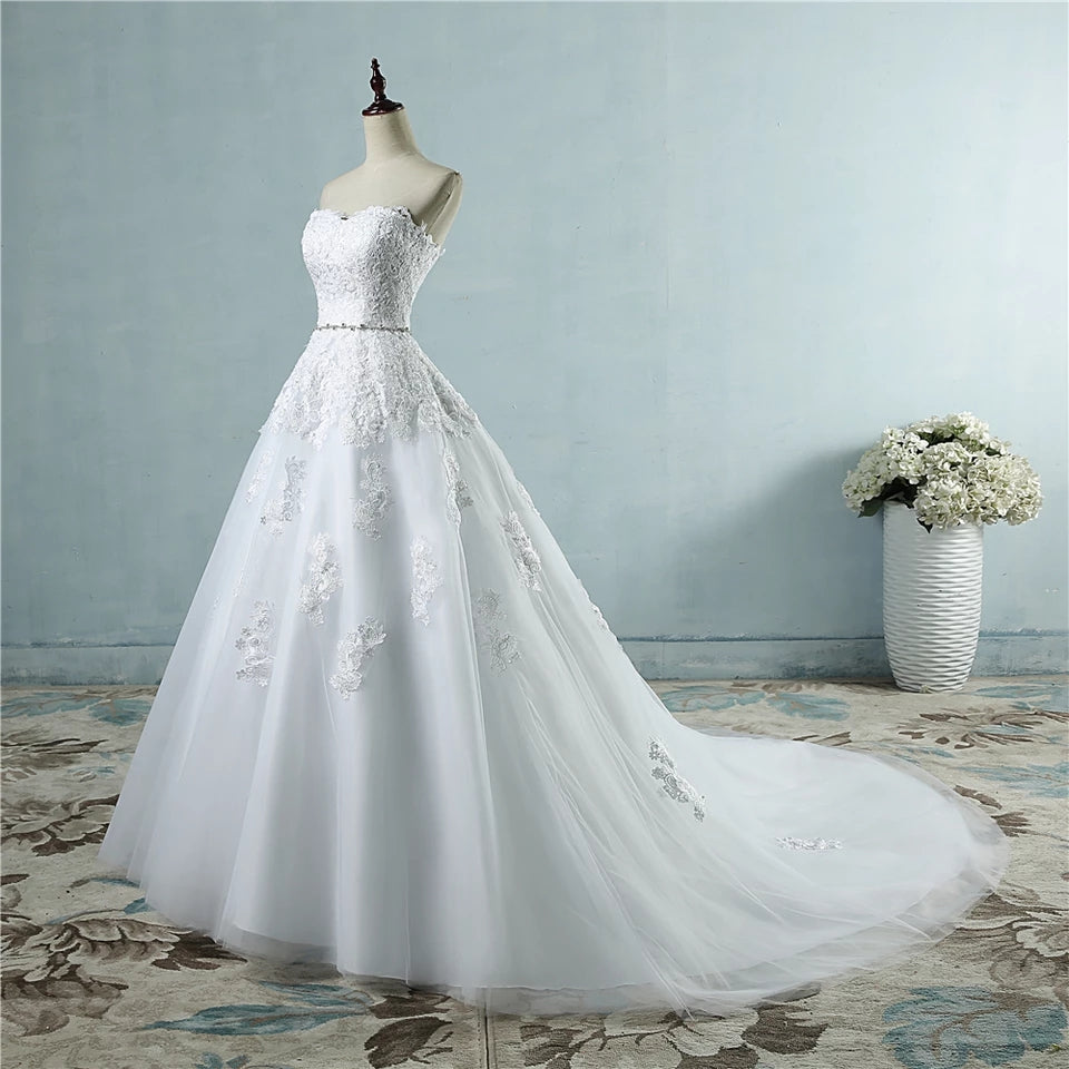 Organza and Tulle Lace Wedding Dress