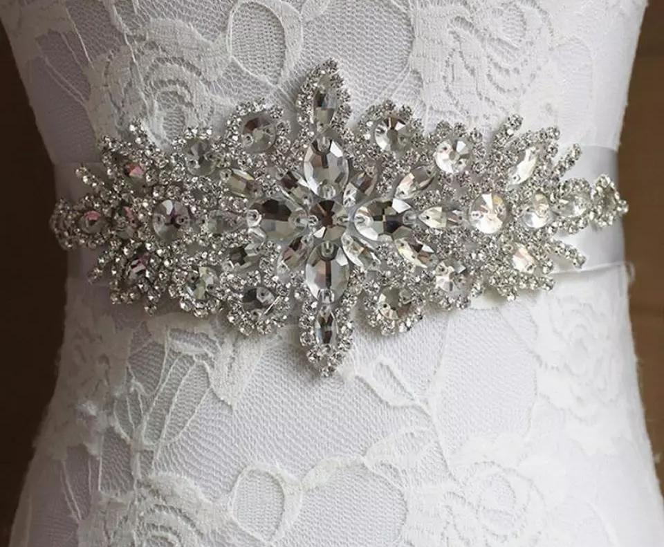 Luxury Rhinestone Wedding Belt