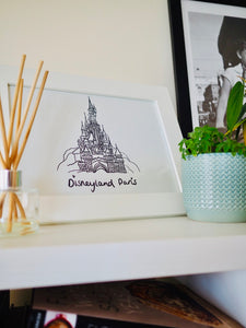Disneyland Paris Castle Print