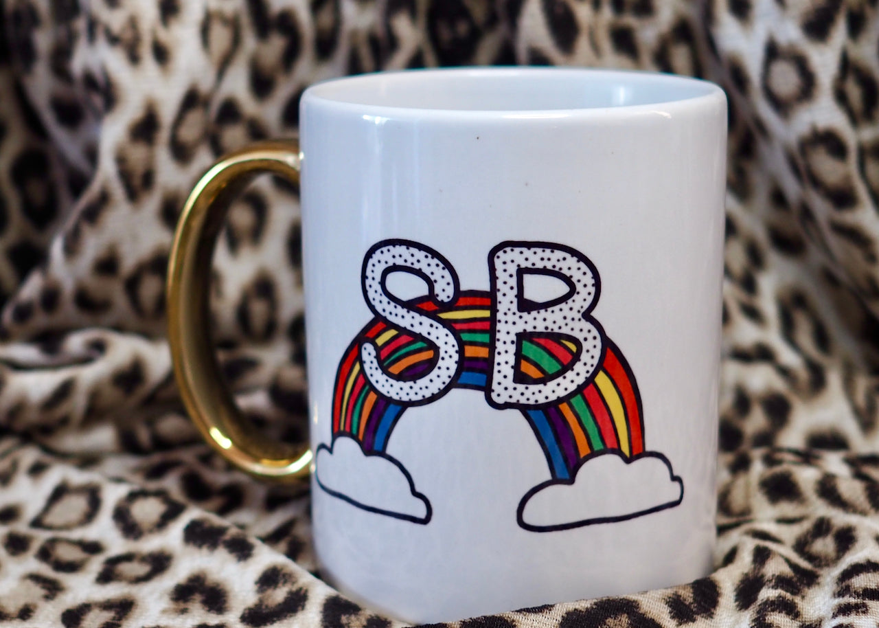 Personalised Over the Rainbow Mug