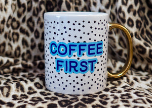 Personalised Polka Dot Mug