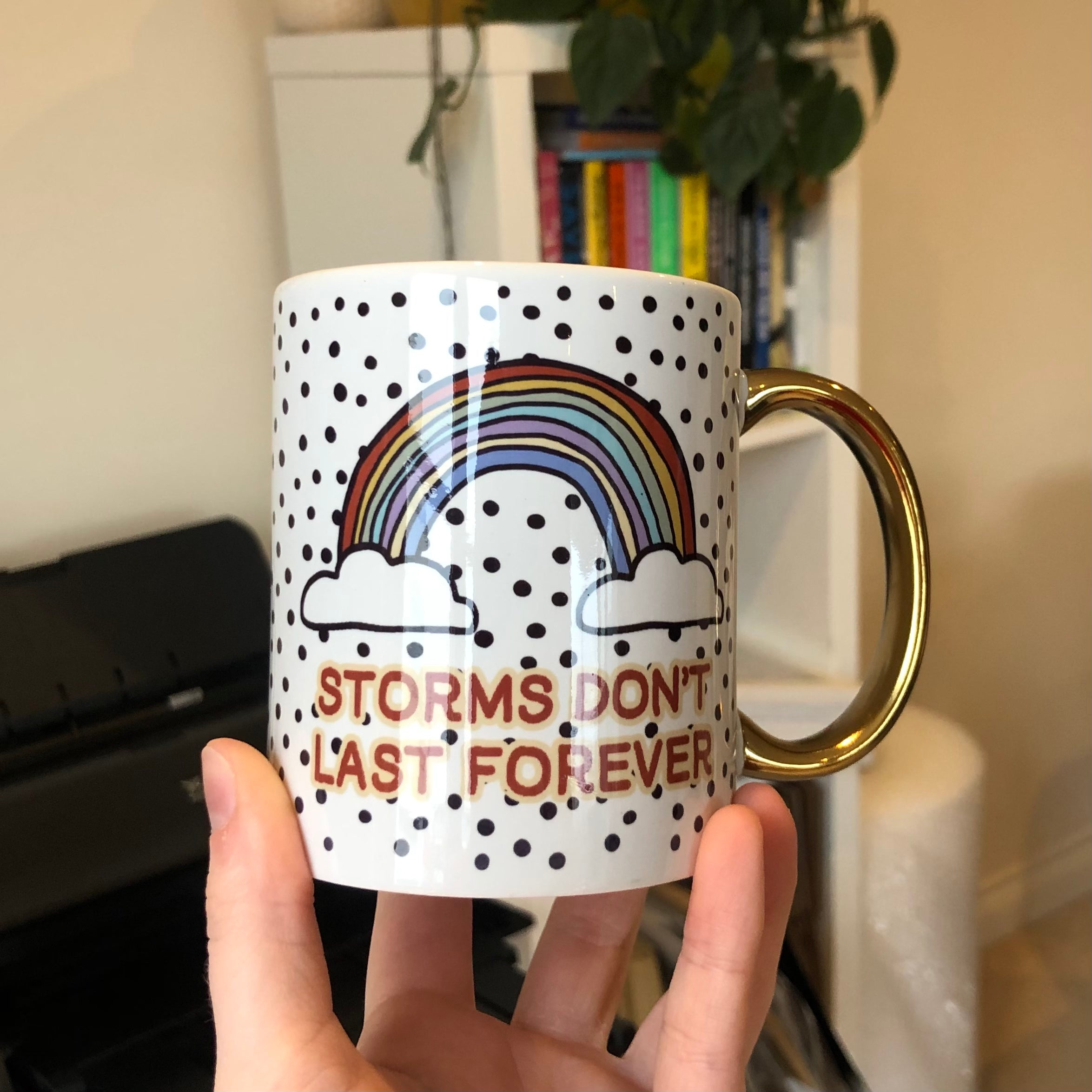 Rainbow Mug, Positive thoughts