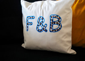 Personalised Leopard Print Wording Cushion