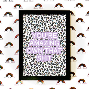 Personalised Rainbow Leopard Print