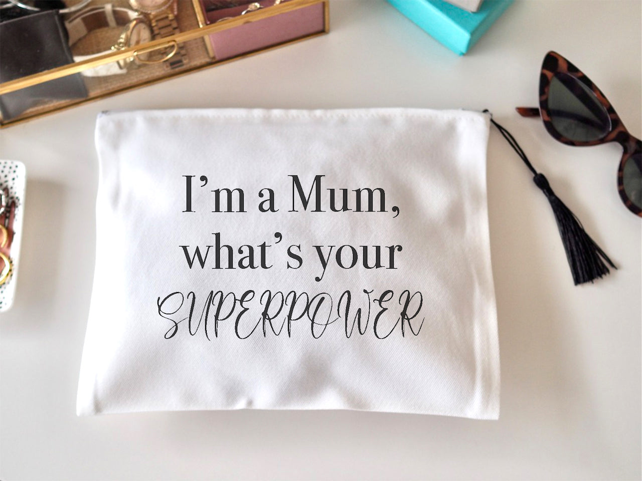 Personalised Im a ... what's your Superpower Make up bag