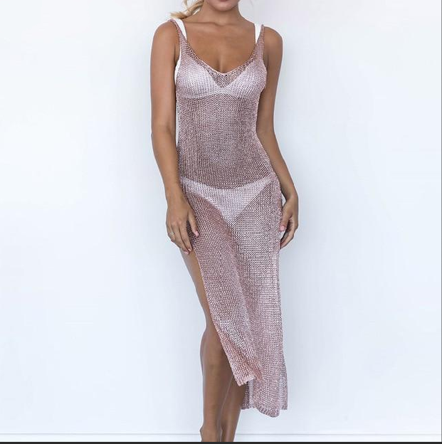 Romantic Mesh Beach Dress - Trendism