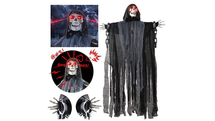 Reading Time:  1 minute Bring the scary fun this Halloween with this 60-inch animated grim reaper decoration with lights and sound for just $21 today!