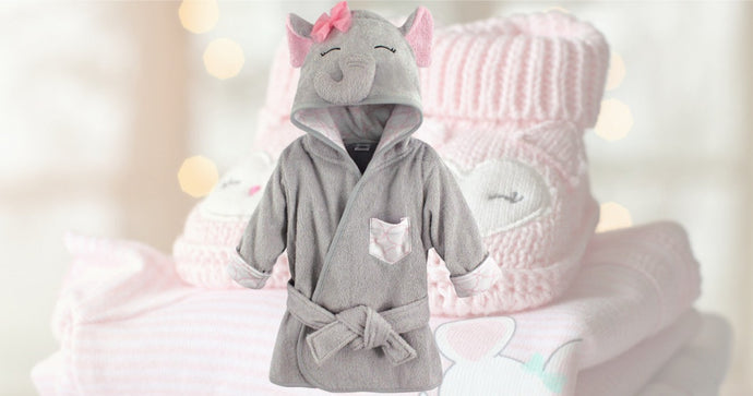 Elephant Hooded Infant Bathrobe Only $6 at Amazon (Regularly $14)