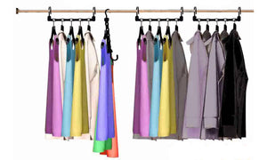 Home Storage Closet Space Clothes Organizer Robe Hooks 10 Magic Hangers