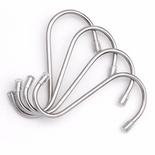 S Shape Hooks Stainless Steel Bathroom Hanger Clasp Rack Robe Hooks Protective