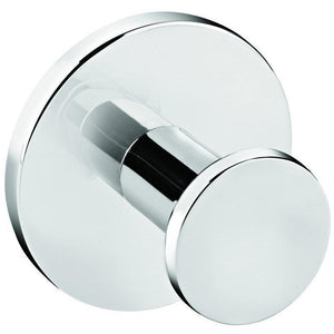 Round Self-Adhesive Single Towel Robe Hook Hanger Towel Holder, Polished Chrome