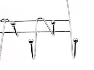 Featured artishook hooks over the door hook organizer rack hanging towel rack over door 9 hooks chrome finish 1