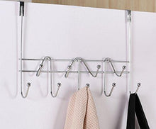 Explore artishook hooks over the door hook organizer rack hanging towel rack over door 9 hooks chrome finish 1