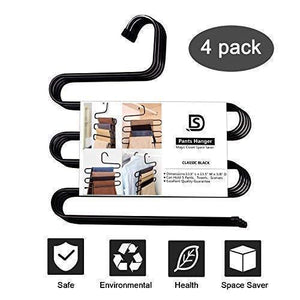 Related ds pants hanger multi layer s style jeans trouser hanger closet organize storage stainless steel rack space saver for tie scarf shock jeans towel clothes 4 pack