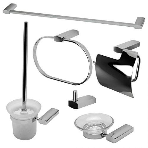 ALFI brand AB9503-PC Matching Bathroom Accessory Set (6 Piece) Polished Chrome
