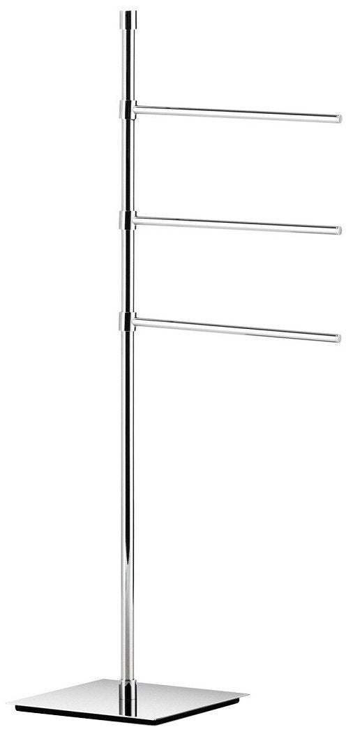 Kitchen ws bath collections ranpin collection towel stand with three 9 1 arms 35 6 polished chrome