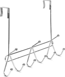 Selection utopia home over the door hook rack organizer 9 hooks ideal for coats hats robes and towels chrome finishing