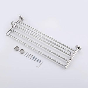 Top satopics towel rack with towel bar polished bathroom shelf wall mount
