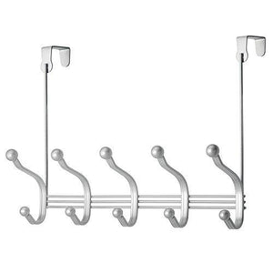 Buy now vibrynt decorative over door hook metal storage organizer rack for coats hoodies hats scarves purses leashes bath towels robes men and women clothing