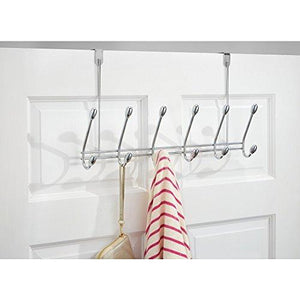 Storage organizer watimas over door storage rack organizer hooks for coats hats robes clothes or towels