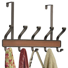 Try interdesign laredo over door storage rack organizer hooks for coats hats robes clothes or towels 5 dual hooks brown bronze
