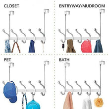 Discover vibrynt decorative over door hook metal storage organizer rack for coats hoodies hats scarves purses leashes bath towels robes men and women clothing