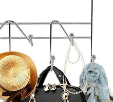 Get artishook hooks over the door hook organizer rack hanging towel rack over door 9 hooks chrome finish 1