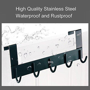 Budget over the door hook hanger rongyuxuan heavy duty organizer for coat clothes towel bag robe 5 hooks wall mount tool holder for home storage organizer aluminum