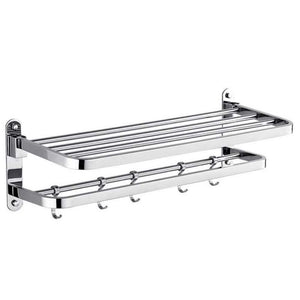 Exclusive tower hanger towel bar cool contemporary stainless steel iron 1pc double wall mounted