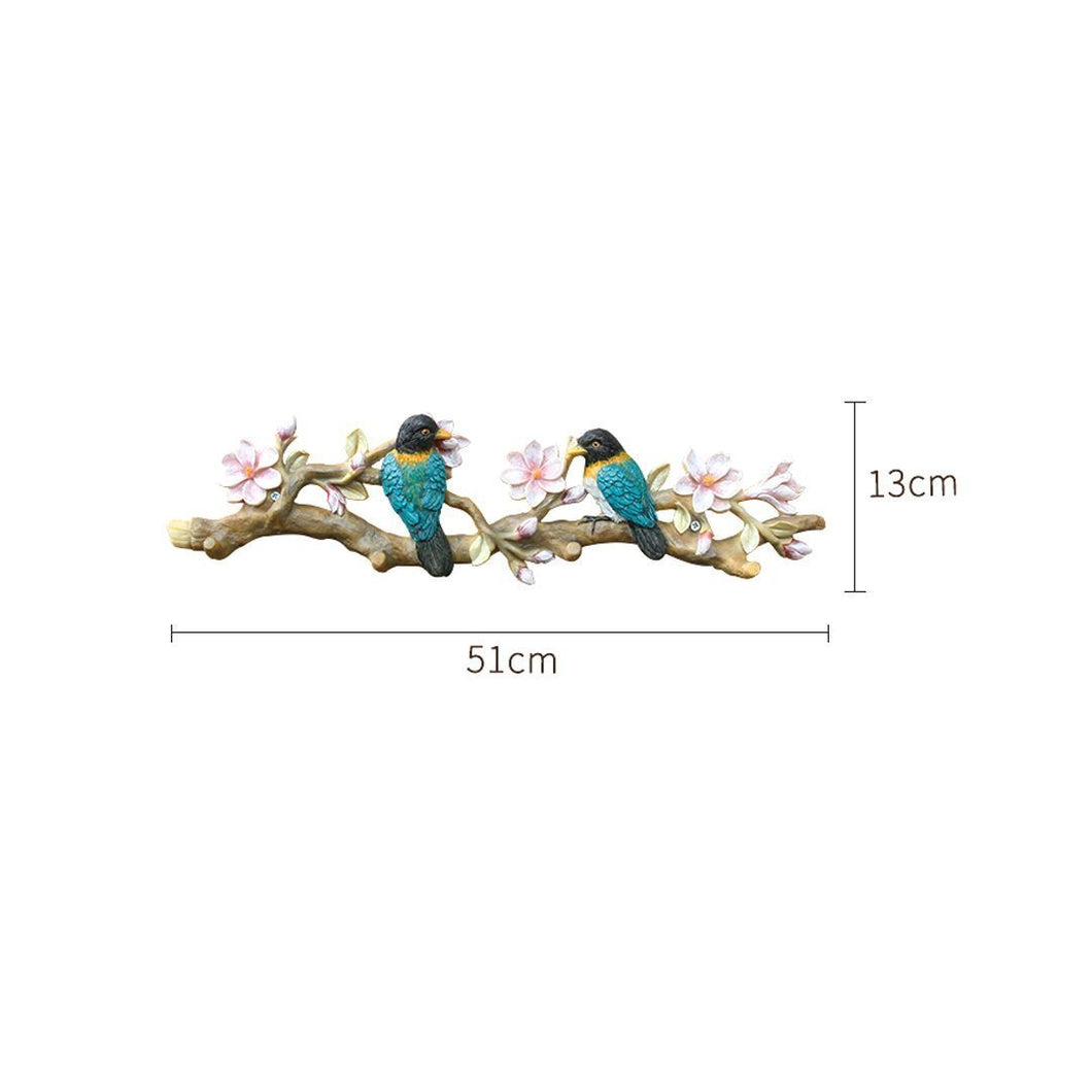 GLJJQMY American Decorative Bird Hook Wall Hanging Creative Door Wall Hanger Art Retro Wall Entrance Coat Hook Wall Hook (Color : Magnolia Flower)
