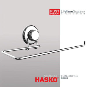 New hasko accessories suction cup paper towel holder chrome plated stainless steel bar for bathroom kitchen chrome