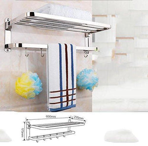 New deed wall hanging mount rack toilet folding towel rack stainless steel 304 bathroom hardware pendant set towel rack toilet brush tissue box storage rack