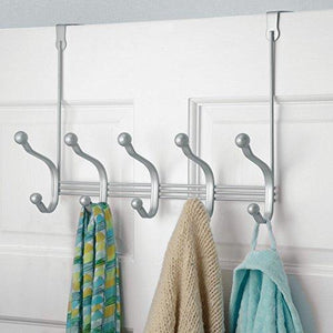 Cheap vibrynt decorative over door hook metal storage organizer rack for coats hoodies hats scarves purses leashes bath towels robes men and women clothing