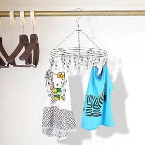 Great amagoing hanging drying rack laundry drip hanger with 20 clips and 10 replacement for drying socks baby clothes bras towel underwear hat scarf pants gloves