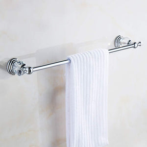 Amazon be xn crysta towel bar holder wall mounted bathroom accessories copper chrome finished towel rack silvery 120cm47inch